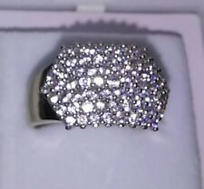 10k Yellow Gold Ladies Cluster  Ring With CZ Sparkling Stones Size 7 1/4((A204))