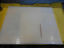 "PERFORATED UHMW SHEET machineable plastic flat stock  1/4"" holes x 24"" x 30"""
