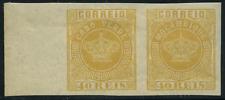 """Kap Verde 1881 """"Krone"""" im Paar zusammenhängend mit 13 B von Mocambique, Falz"""