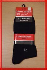 PRIX BOUTIQUE 25 € PIERRE CARDIN 43 - 46  paire de chaussettes luxe homme noires