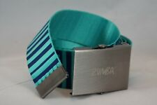 """ZUMBA® REVERSIBLE ADJUSTABLE BELT BLUE ONE SIZE ZUMBA PRINT ON THE OTHER 47"""""""
