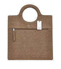 HARRODS NUOVA STAGIONE Lena vintage anni'50 Stile Box Tote Bag Tan-regalo di lusso