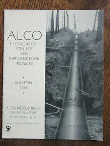 Vintage ALCO Steel Pipe Catalog - 1934