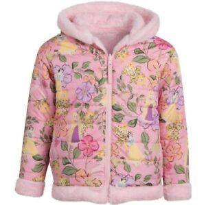 Disney Princess Winter Warm Hooded Jacket Kids Girls Outerwear/School Size 6