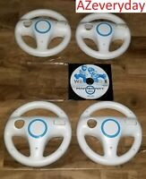 Nintendo Wii MARIO KART game 4 Wheels BUNDLE Steering/Racing lot/set_cart_TESTED