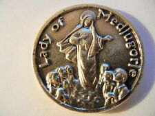 Our Lady of Medjugorje Medal Token with Prayer on Reverse   New!  Made in italy!