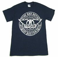 Aerosmith Bad Boys Of Boston Skull Navy Blue T Shirt New Official Band Merch