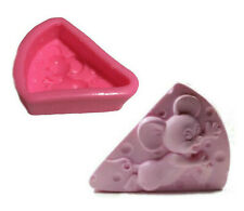 Mouse silicone mold,Cheese Shape Mouse Mould Craft Art Silicone 3D Soap Mold Cra