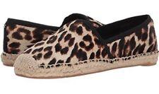 Tory Burch NEW Elisa Leopard Genuine Calf Hair Espadrille Flats Jute  SOLD OUT