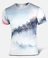 Hombres Aire Libre/Ciclismo 3D impresión Godzilla T-shirt XL Secado Rápido De Manga Corta