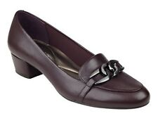 Easy Spirit Umandra loafer pump wine burgundy leather sz 9 WIDE New