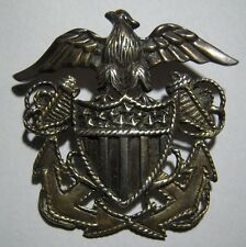 WW2 US Navy Officer's Hat Badge Design Sweetheart Sterling Pin