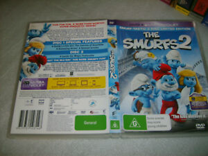 THE SMURFS 2 - RARE 2 DISC LIMITED EDITION - 2013 Sony DVD Release - Animation!
