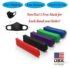 Heavy Duty Exercise Bands Latex Resistance Fitness Yoga Powerlifting Assist Band