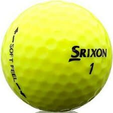 50 Mint Srixon Soft Feel Yellow Used Golf Balls