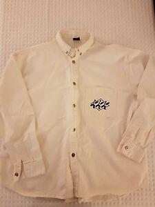 WEST BEACH Off-White | Cream Oxford Shirt | LARGE | Cotton | RARE