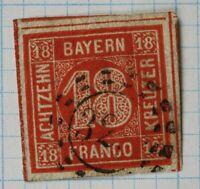 Germany Bavaria sc#14 18kr used cv$140.00