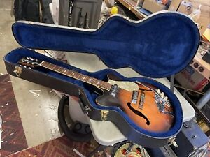 1960s Teisco / Decca ES335 Thinline Set Neck Guitar Lawsuit Japan w/ Ibanez case