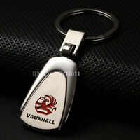 Car Logo Titanium Key Chain Car Keychain Ring Keyfob Metal Keyrings for Vauxhall