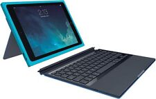 LOGI by Logitech Blok Protective Keyboard Case for iPad Air 2 Teal Blue Cover