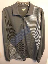 IZOD Perform X Men's Golf Pullover 1/4 Zip Gray Multicolor Striped Size Medium