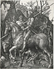 "Albrecht Durer: Knight, Death & Devil Painting - 8""x10"" Canvas Fine Art Print"