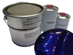 1 Liter Set 2K Autolack Dark Blue Metallic kein Klarlack Lackpoint Tuning Blau