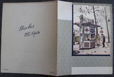 "Encart dépliant VINS NICOLAS ""Kiosque Nicolas Madeleine"" 1931 imp. Draeger"