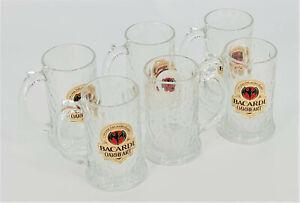 6 x Bacardi Oakheart Rum Glas Krug Seidel Relief Spirit Drink Neuer Look(6042-6)