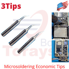 Solde Iron Tips 4mm X 625mm Curve Tip Edge Replacement Solder Station 900m T Si