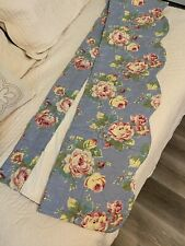 Country Farmhouse - Williamsburg Blue & Rose Pink - Quilted Valance- Pre-Owned