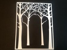 10 x Forest Tree and frame die cuts (5 off each) FREE UK POSTAGE