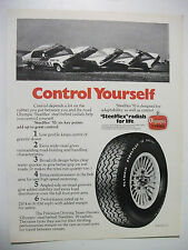 1978 OLYMPIC STEELFLEX TYRES WITH HOLDEN PRECISION DRIVING TEAM MAGAZINE ADVERT