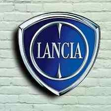 LANCIA Badge Logo 2ft GARAGE SIGN TARGA sul muro auto Classic Stratos Rally Delta