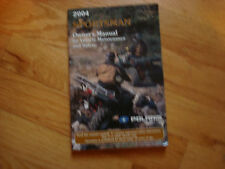2004  POLARIS SPORTSMAN ATV OWNER'S MANUAL
