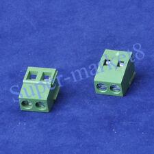 20pcs 2 Poles Terminal Block PCB Panel Universal Screw 5mm Pitch Socket