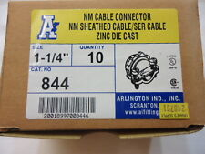 """Arlington Ind.,Inc 1-1/4"""" Cable Connector/Romex Connector Box of 10"""