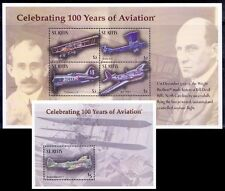 St. Kitts 2003 MNH MS+SS, Wright brothers, 100 yrs of Aviation, Airplanes -J26