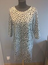 Papaya Animal Print Jersey Dress Size 12 Ex Condition
