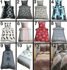 Winter Bettwäsche Thermo Fleece Bett Bezug warm 135x200 / 155x220 / 200x200 Neu