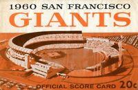 San Francisco Giants 1960 Official Baseball Program