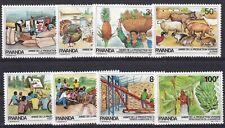 Rwanda 1985 Scott 1213 - 1220 MNH