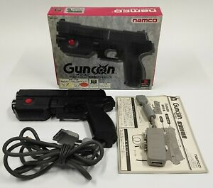 NAMCO Black G-Con Light Gun Controller for Sony PlayStation PS1 TESTED BOXED
