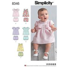 SIMPLICITY SEWING PATTERN BABIES DRESS & PANTIES SIZE XXS - L 8346 SALE