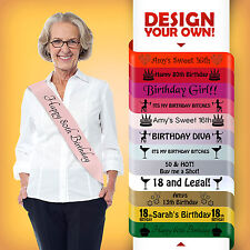 80th BIRTHDAY 70 TODAY PARTY GIFT PRESENT SASH DECORATION ALL COLOURS CHEAP!