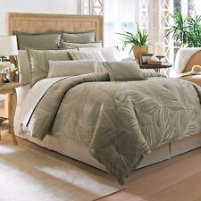 3-Pc Tommy Bahama Montauk Drifter Comforter Set Tropical Palm Trees Green Ivory