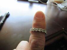 genuine white zircon eternity band ring 8