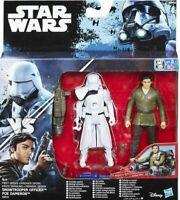 "STAR WARS Rogue One - SNOWTROOPER OFFICER & POE DAMERON figures - 3.75"""