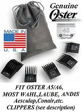 OSTER A5 UNIVERSAL Guide 5 Comb SET&CryogenX 40 Blade*Fit A6,Most Andis Clipper