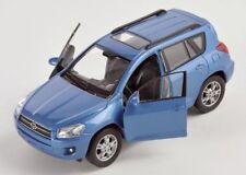 BLITZ VERSAND Toyota RAV 4 / RAV4 blau / blue Welly Modell Auto 1:34 NEU & OVP